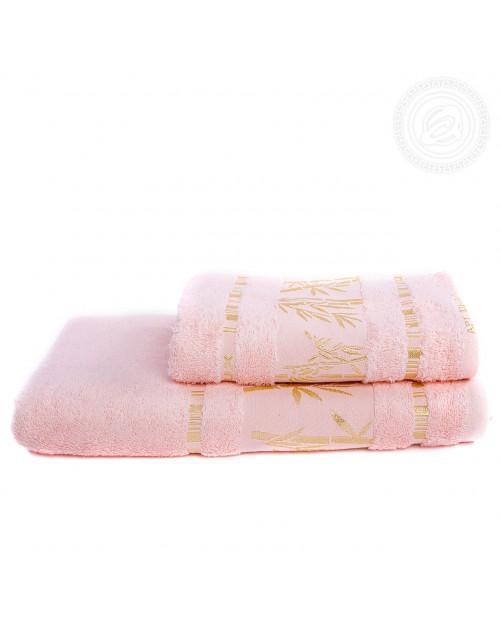 """Набор полотенец """"Бамбук"""" (персиковый)"""