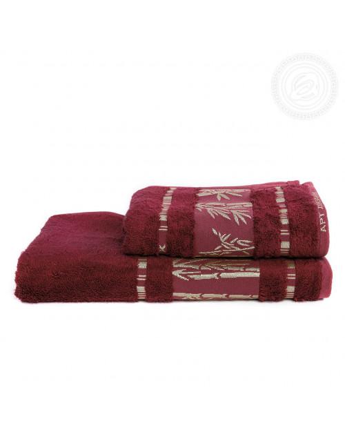 "Набор полотенец ""Бамбук"" (бордо)"